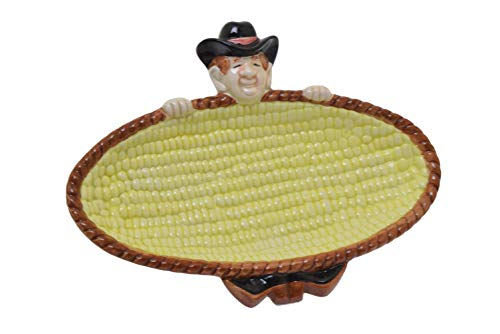 - Fitz and Floyd 1992 OCI Omnibus Cowboy Corn On The Cob Holder