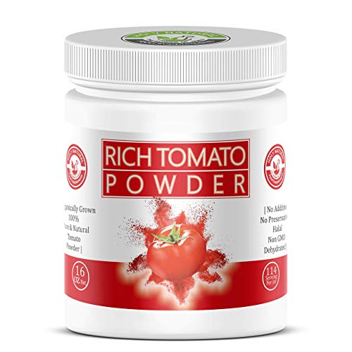 100% Pure Rich Tomato Powder (1 Lb), No Additive, No preservative, Organically Grown - 16 Oz (Dehydrated Pasta Sauce)