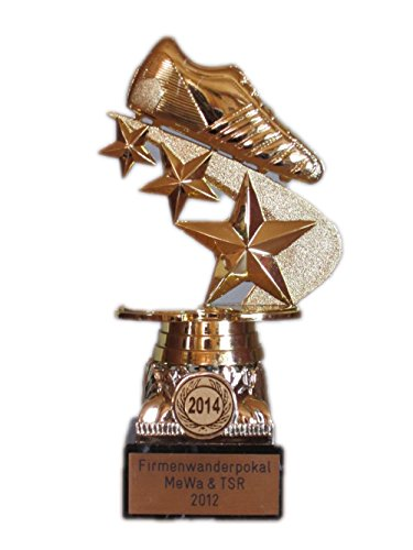 Fussball-Pokal mit Jahreszahl und mit Ihrem Wunschtext graviert (38036).