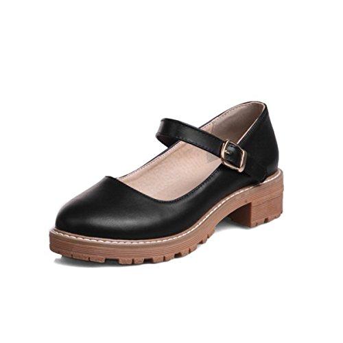 Zapatillas de Moda Sandalias   Sandalias de mujer Presidente retro solo zapatos de mujer   zapatos de tacón y sandalias black