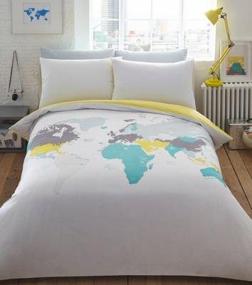 Ben de lisi home multicoloured printed world explorer bedding set ben de lisi home multicoloured printed world explorer bedding set double gumiabroncs Choice Image