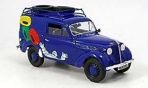 Renault Juvaquatre, camioneta de reparto, Michelin, Modelo de Auto, modello completo, Solido 1:18