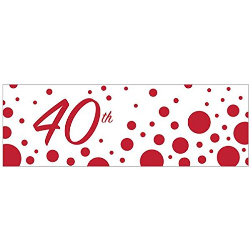 Creative Converting 320881 40th Anniversary Giant Party Banner