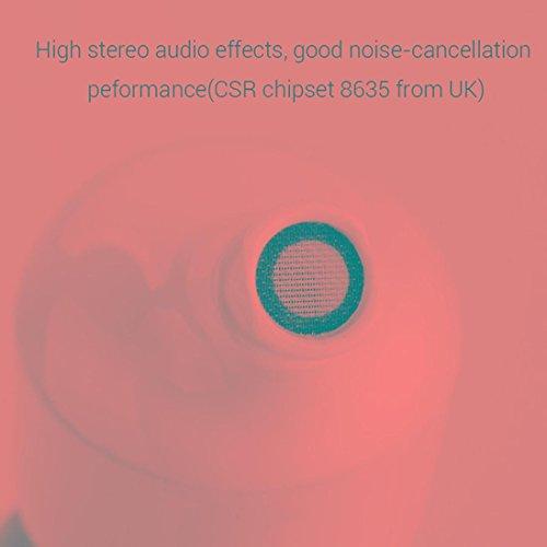 Creazy Mini True Wireless Bluetooth Twins Stereo In-Ear Headset Earphone Earbuds (White)