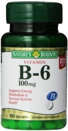 Nature`s Bounty B-6 100Mg Tablets 100 Ct (6 Pack)