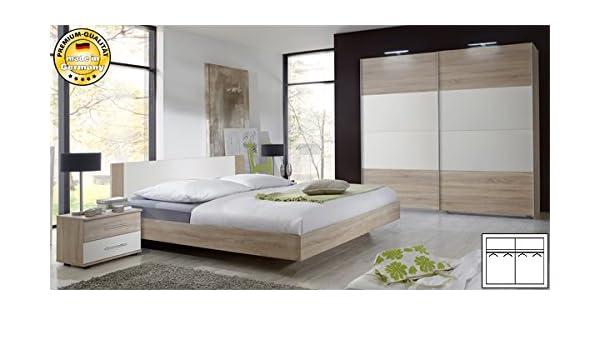Dormitorio completo de 4 teilig 775695 de madera de roble/blanco: Amazon.es: Hogar