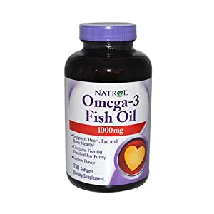 Natrol omega 3 fish oil 1000 mg dietary for Omega 3 fish oil amazon