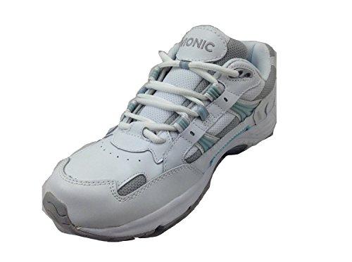 Vionic Women's Walker Classic Shoes, 8.5 C/D US, White/Blue