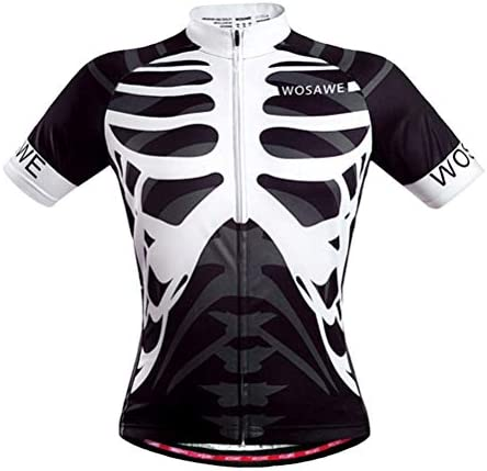LIOOBO Camisas de Bicicleta Transpirables para Hombres Patrón de Esqueleto de Secado rápido Maillots de Manga Corta Ciclismo Equipo Tamaño: Amazon.es: Hogar