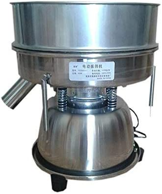 Electric Automatic Sieve Shaker Vibrating Sieve Machine Food Industrial Stainless Steel Sifter for Granule Powder Grain (60 Mesh 0.3mm)