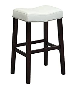Amazon Com Acme Lewis Counter Height Stool Set Of 2