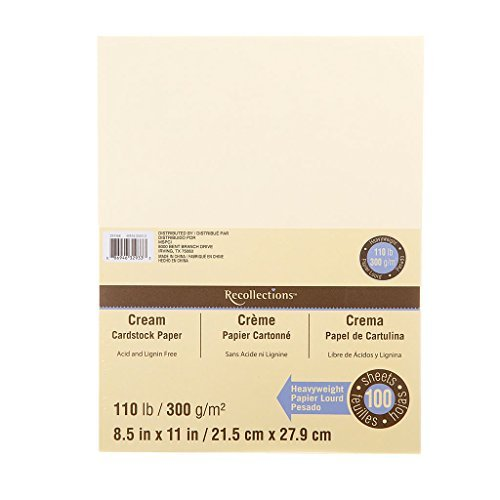 - Recollections Cream Heavyweight Cardstock Paper, 8.5