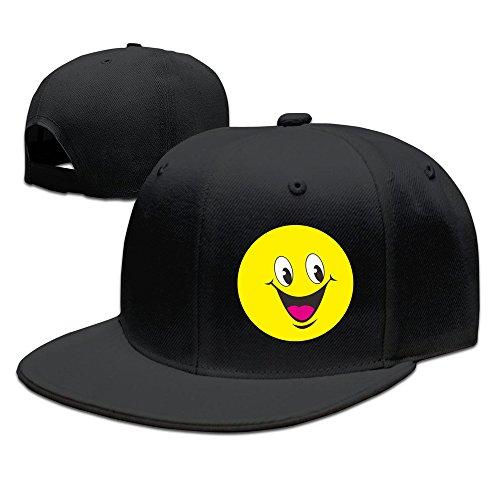 Z-Jane Cute Rustic Laughter Face Trucker Hip Hop Hat Baseball Hat Adjustable Snapback Flatbill Black