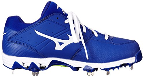 Mizuno Frauen 9 Spike Swift 4 Fast Pitch Metall Softball Cleat Royal / Weiß