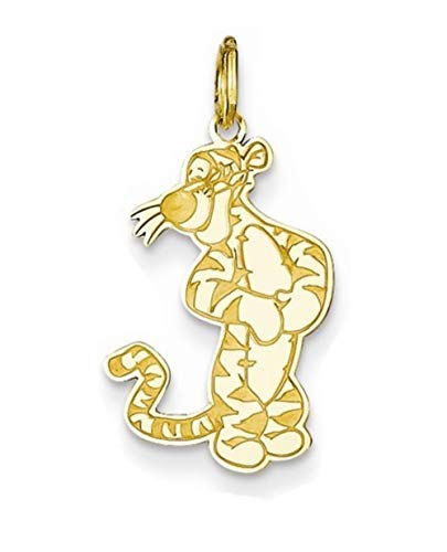 Roy Rose Jewelry Gold-plated Sterling Silver Tigger Charm Necklace Complete with Chain Trademark and Licensed