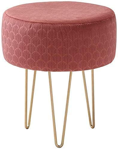 Wimarsbon Round Velvet Footstool