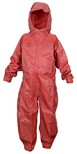 DRY KIDS Baby Boys' Waterproof Rainsuit 1 Yr Bright Red