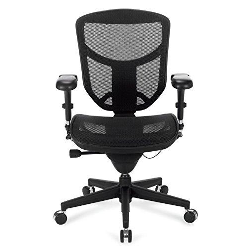 WorkPro(R) Quantum 9000 Series Ergonomic Mesh Mid-Back Chair, Black
