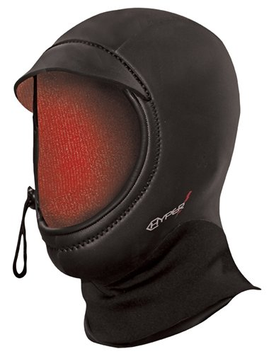 Hyperflex Wetsuits Unisex Amp 5-mm Hood (Black, (Amp Mesh Hat)
