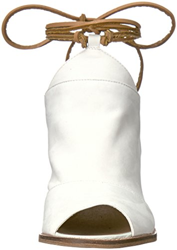 Women White Leather Dress Chinese Cali Laundry Sandal 05WqR