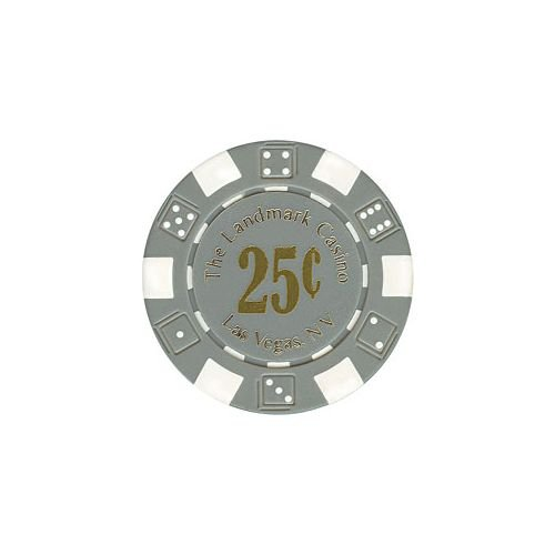 Trademark Poker Landmark Casino 100 Poker Chips (25 Cent), (Landmark Casino Chip)