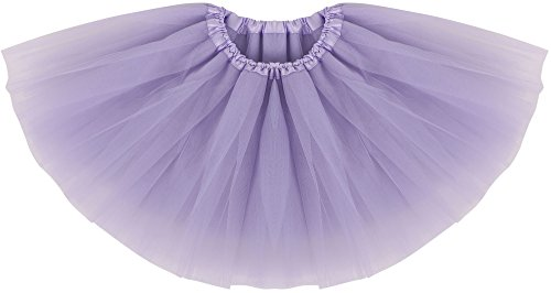 Simplicity Infant Tulle Dance Tutu Skirt for Dress Up & Fairy Costume, Lavender, 6-18 Month]()
