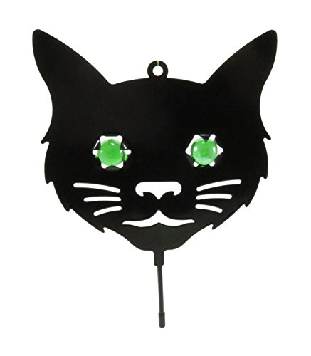 Affordable Halloween Decorations (Black Cat Green Marble Eyes Halloween Decoration Pest Repellent Decoy 7.5