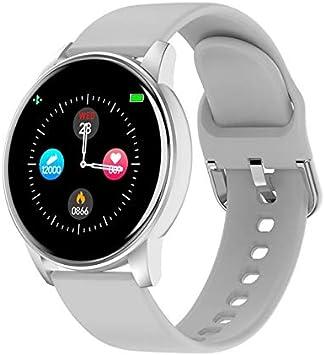HUAKLIN Reloj Inteligente 2020 Nuevo Touch Pulsera Inteligente Hombres Mujeres Ritmo Cardíaco Presión Arterial Oxígeno Monitor para Apple Android Teléfono PK F10