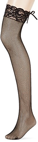 Leg Avenue Womens Fishnet Stockings with Corset lace (Leg Avenue Lace Corset)