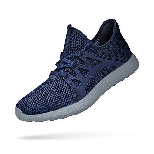 - KIKOSOCKS Men Sneakers Walking Athletic Sneakers Classic Shoes Fashion Girls Sneakers Blue/Grey 7 M US
