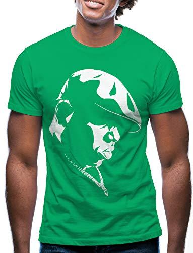 Swag Point Hip Hop T-Shirt - Funny Vintage Street wear Hipster Parody (S, Biggie-Green)