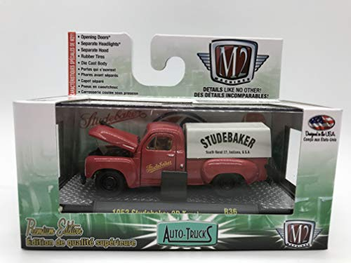 M2 Machines Auto-Trucks 1952 Studebaker 2R Truck 1:64 Scale R36 15-78 Red/White Details Like NO Other! Over 42 Parts