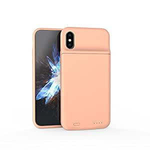BChocks 3600mAh iPhone X Battery Case With Qi Wireless Charging Slim Rechargeable Extended Protective Portable Backup Charger Cover(5.8inch) (Rose Gold)