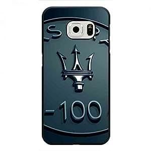 Maserati Famous Car Brand Samsung Galaxy S6Edge Funda, Plastic Black Cover, Unique Style Maserati Famous Car Brand Phone Funda