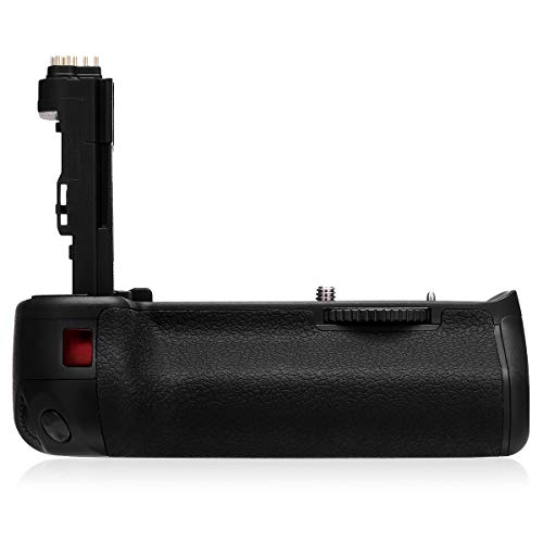 Powerextra BG-E13 Battery Grip + AA-Size Battery Holder for Canon EOS 6D DSLR Camera - Work with LP-E6/LP-E6N Batteries or 6 Pcs AA-Size Batteries