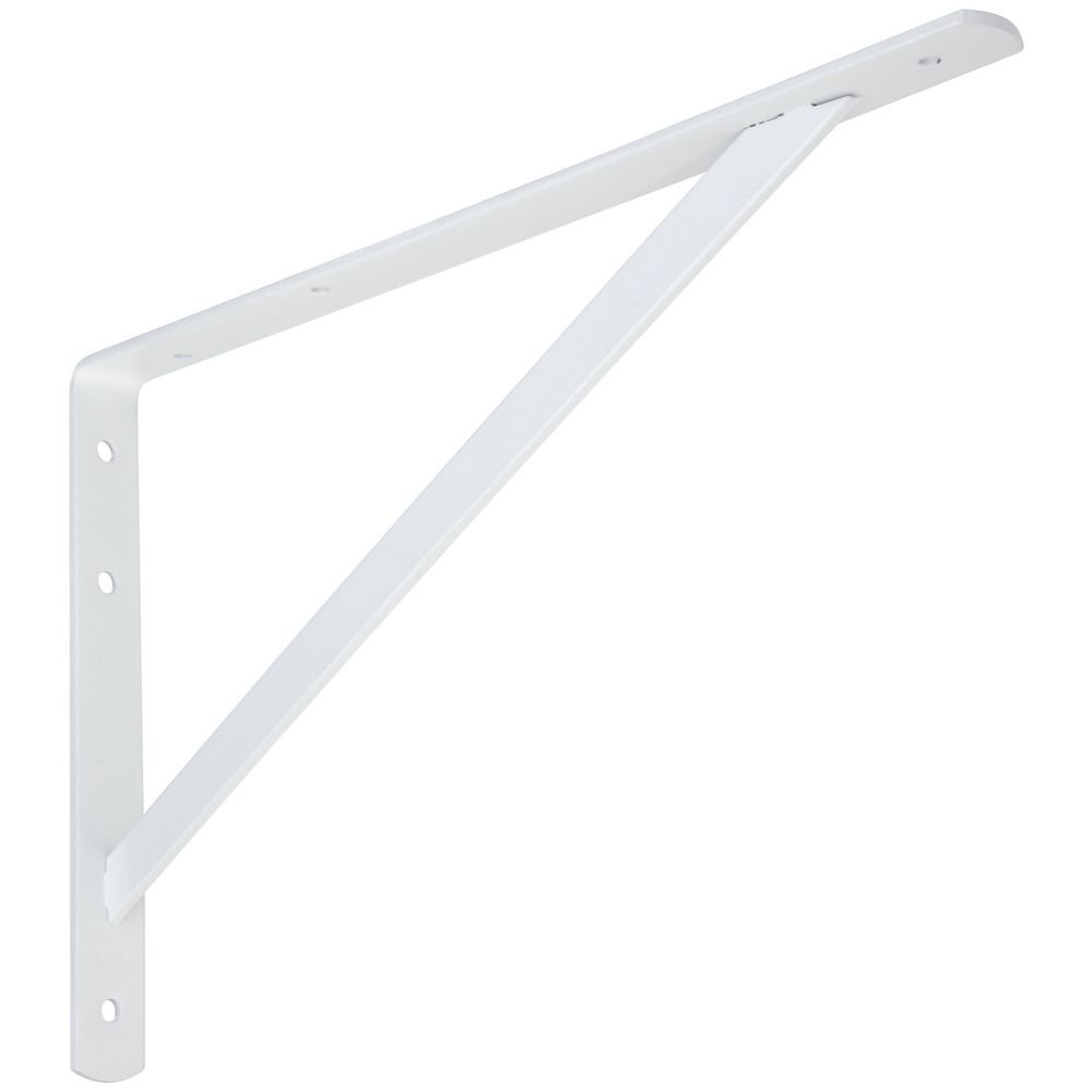 National Hardware N260-596 111BC Super Strength Shelf Bracket in White by National Hardware