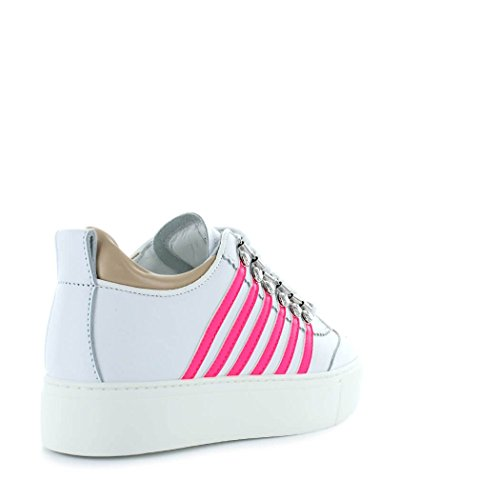 perfect cheap price cheap pay with paypal Women's Shoes Dsquared2 251 Maxi Sole White Fuchsia Sneaker Spring Summer 2018 affordable sale online Wqo0J