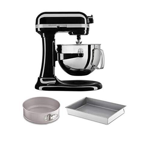KitchenAid KL26M1XCMOB KitchenAid Professional 6 Quart Bowl Lift Stand Mixer with 2 Piece Bakeware Set, Onyx Black