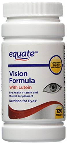 Equate - Vision Formula with Lutein, Eye Health Vitamin and Mineral Supplement, 120 Tablets