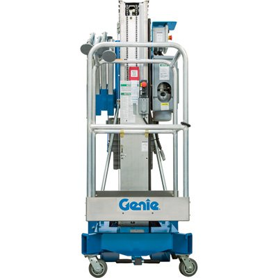 Genie Aerial Work Platform with Sliding Mid-Rail Entry - 24Ft. 10In. Working Height, 350-Lb. Capacity, Model# AWP 25 DC