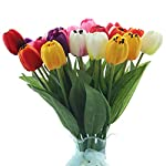 B-bangcool-16-Branches-Artificial-Flower-Decorative-Simulated-Tulip-Fake-Flower-for-Easter-Decor