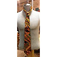 African Kente cloth pattern Men Necktie: Style 1