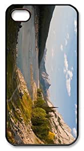 case best covers lake mountain scenery PC Black Case for iphone 4/4S