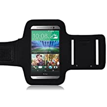 HTC ONE M9 Armband, Ionic ACTIVE Sport Armband HTC ONE M9 Case (AT&T, T-Mobile, Sprint, Verizon)(Black)