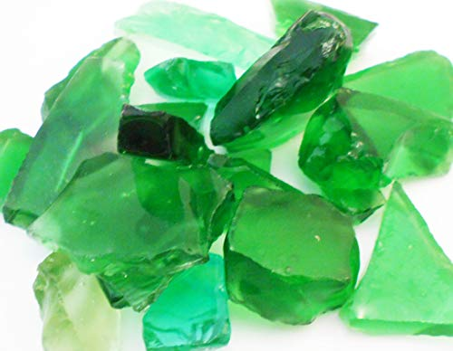 2 Lbs (4 Cups) Emerald Green Decor Glass Pieces for Beach Crafts, Mosaic, Vase Filling and Table Scatter