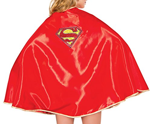 Rubie's Women's Dc Comics Supergirl Deluxe 30-Cape, Multi, One Size (Supergirl Sexy Costume)