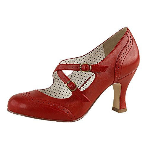 Pin Up Pompes, Damen, Rot (rot) Rot (rot)
