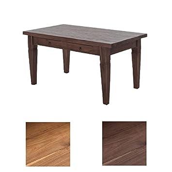 CLP Teakholz Esszimmer Tisch CARLOS, Bis Zu 3 Größen + 2 Farben Wählbar  Braun