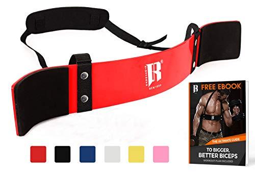 Blaster Belt (RIMSports Arm Blaster for Biceps Best Muscle Bicep Blaster for Bicep and Tricep Workout Ideal Biceps Isolator & Heavy Duty Elite Muscle Arm Blaster for Bodybuilders & Weightlifters (Red))