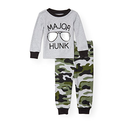 The Children's Place Baby Little Boys' Major Hunk 2 Piece Pajamas, Heather 90873, 2T